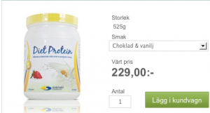 95 kcl per portion protein lågkalorikost