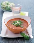 Paprika- och tomatsoppa med gremolatatopping 162 kcal