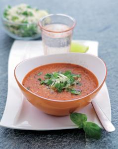 5:2 162 kcal Paprika- och tomatsoppa med gremolatatopping