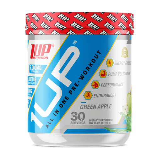 1UP Pre-Workout 450g - Green Apple
