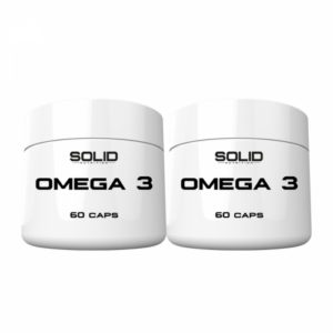 2 x SOLID Nutrition Omega-3, 60 caps