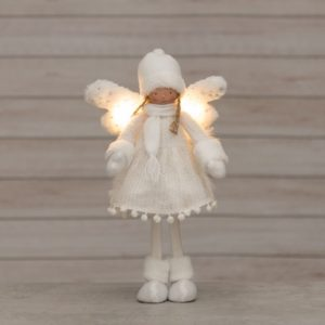 Angel standing with LED- light 45 cm