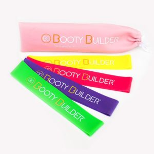 Booty Builder Mini Bands, Pink, 4-Pack