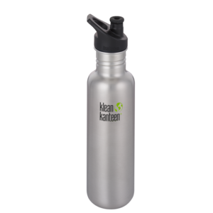 Classic w/Sport cap Brushed stainless, 800 ml