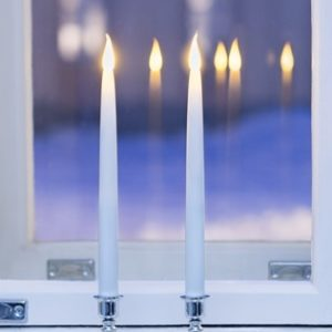 LED-candle silver stand 35,5 cm 2 st