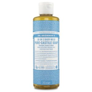 Dr Bronner Pure Castile Liquid Soap Baby Unscented 240 ml