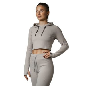 RELODE Mellow Cropped Hoodie M Beige
