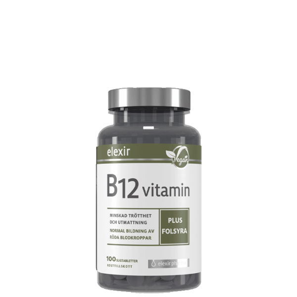 B-12 Vegan, 100 tabletter