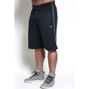 Chained Mesh Shorts, Black