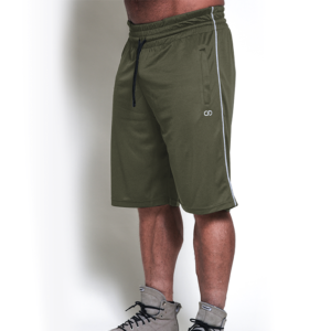 Chained Mesh Shorts, Olive