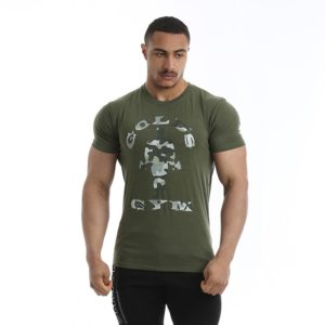 Golds Gym Camo Joe Printed T-shirt, Army Marl