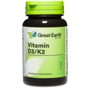 Great Earth Vitamin D3/K2 60 kaps