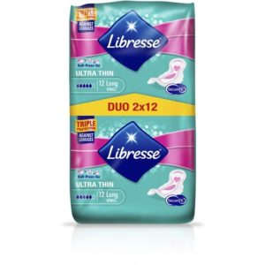 Libresse Ultra Thin Long Wing duopack 24 st