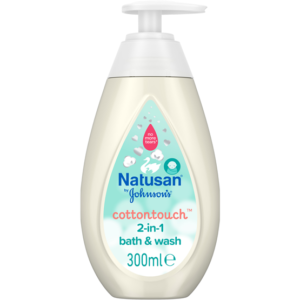 Natusan by Johnson's Cottontouch 2-in-1 Bath & Wash 300 ml