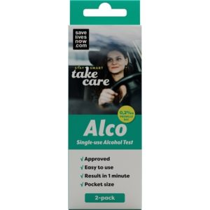 Save Lives Now Alkoholtest 2-pack
