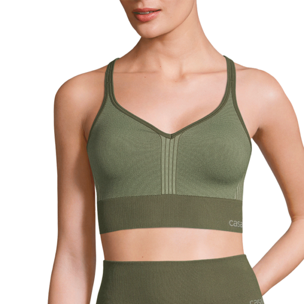 Seamless Sports Top, Northern Green