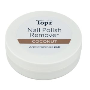 Topz Nail Polish Remover Pads Coconut 20 st