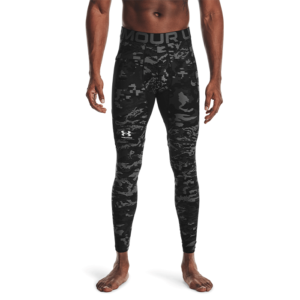 UA HG Armour Camo Leggings, Black