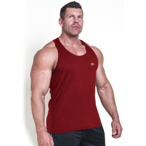 Chained Gym Stringer, Maroon