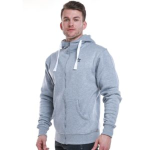 Star Mens Zip Hood, Grey