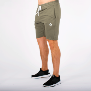 Star Raw Edge Shorts, Olive